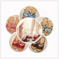 bamboo sandal - Lovers Bamboo Cool Slippers Unisex Summer Breathable mesh yarn Indoor sandal Men s Women s Home slipper LJJO115