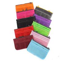 Wholesale 2016 multifunctional Organizer cosmetic bag Makeup Bag Purse ipad ipod Phone Organizer lady fashion bag in bag Sundry Bags Zipper Tidy Bag