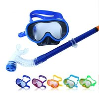 Wholesale Children Kids Scuba Swimming Diving Glasses Equipment Diving Mask Dry Snorkel Set Scuba Snorkeling Gear Kit