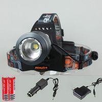 Wholesale C XM LT6 LED Lm Rechargeable Headlamp bike light headlight torch light eu us plug charger battery Car Charger