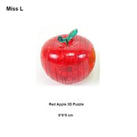Wholesale Practical Gift For Kids Toys Creative Funny Apple D Puzzles Crystal Model DIY Toy