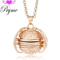 album chains - Pryme Jewelry Accessories Angel Ball mm Lucky Wings Photo Album Box Eco friendly Copper Harmony Cage Pendant Long Mom Necklace L081