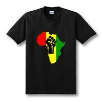 africa logos - New AFRICA Power Rasta Reggae Music Logo men s t shirt man Cotton Camisetas Print short sleeve t shirt Plus Size XS XL