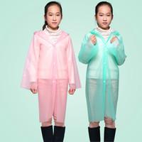 Wholesale baby poncho rain gear Size fits all fashion cartoon child raincoat Plastic Raincoat Impermeable Clear Raincoat