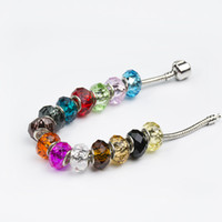 Wholesale Hot Seller Faceted Pandora Transparent Glass Beads DIY Jewelry Pando style bracelet necklace accessories For Christmas Holloween