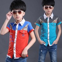 Wholesale Children shirt new summer Short sleeve cotton shirts Children s clothing children Fashion casual baby shirt CM CM