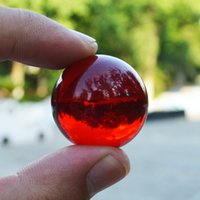 asian living rooms - 30mm Red Rare Clear Asian Quartz feng shui ball Crystal Ball Sphere Table Decor Good Luck Ball natural stones and minerals