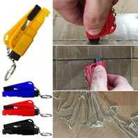 Wholesale 1PCS Car Emergency Safety Hammer Belt Window Breaker Key Chain Escape Tools EA10500