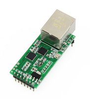 Wholesale Q18042 USRIOT USR TCP232 T2 Tiny Serial Ethernet Converter Module Serial UART TTL to Ethernet TCPIP Module Support DHCP and DNS