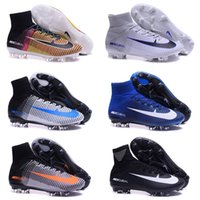 baby football tops - 2016 New Top Outdoor Mercurial Superfly VI FG CR7 Soccer Shoes Magista Obra Football Boots Hypervenom II Baby Kids Soccer Cleats