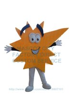 ads banners - Orange Advertising Spark Mascot Costume Cartoon AD Banner Costumes logo print color custom carnival fancy dress