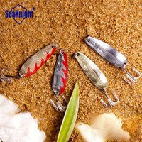 artificial lake - 4Pcs SeaKnight Spoon Lures Baits Slowing Sinking Hard Metal Lure Baits Lake Fishing Goods Artificial Lures VIB mm g