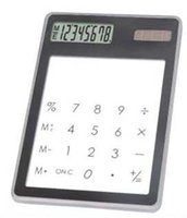 Wholesale Touch Screen Slim Credit Card Solar Power Calculator Novelty Calculator Office School Suppliers Calculators Scientific Calculator X82X6mm
