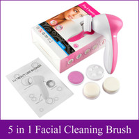 Wholesale 5 in homeuse facial Cleaning brush Multifunction Electric Face Facial Cleansing Brush Spa Skin Care Massage DHL Free