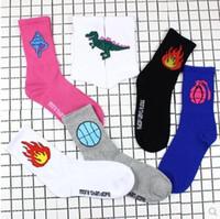 al por mayor pantimedias para hombres-East Gate Llama Dinosaurio Baloncesto Long DOPE Original Antiguo Cartoon Cotton Hombres Y Mujeres Calcetines Medias Retail Pantyhose Bodystocking