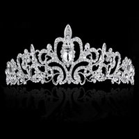 Wholesale Wedding Headdress Bride Headdress Wedding Headdress Hot Wedding High grade Diamond Ornament Bride Headdress Fashion Wedding Elegant Crown