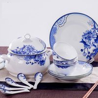 Wholesale Jingdezhen bone china tableware ceramics tableware suit top grade bowl sui