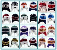 animal pilot hats - 2017 Ear Muffs Winter Thick Team Beanies Beanie Browns Knitting Ear Cover beanies Outdoor Skiing Pilot Vikings Chargers Baseball Beanies