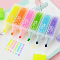 Wholesale Fluorescence Colorful Useful Normal Art Writing Office Students Children Oblique Highlighters Pen