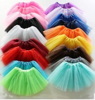Wholesale fashion new candy color Underskirt Ball Gown skirt women dancing Skirt Rockabilly Tutu Mini Petticoat ballet skirts