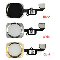 Wholesale For Apple iphone6 G inch Home Button Keypad with Flex Cable Menu Key Ribbon Assembly Replacement parts Gold Black White