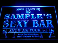 Wholesale Sexy Neon Signs - DZ041-b Name Personalized Custom Sexy Bar Now Playing Stripper Bar Beer Neon Sign