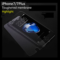 Wholesale For iphone7 plus iphone6 s plus HD Toughened Membrane Screen Protection Film D mm H Hardness Anti Scratch Anti Fingerprint Coating
