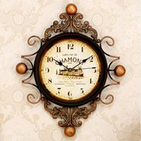 Wholesale 1pcs European art clock movement Florence Tuscan outfit wind clock retro decorative clocks