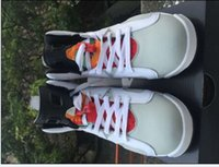 basketball cones - 2016 Mens Athletics Shoes Retro VI Sports Shoes Men Sneakers JVI MAROON Retro Basketball Shoes Cheap orange BasketBall Boots Men Traine