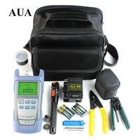 Wholesale Fiber Optic FTTH Tool Kit with AUA S Fiber Cleaver and Optical Power Meter Mw Visual Fault Locator Wire stripper