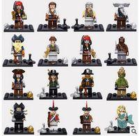 Wholesale 480pcs Building Blocks Pirates of the Caribbean minifigures figures Bricks Education Toys