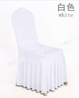 Wholesale Sun dress pleated stretch chair cover hotel chair cover wedding chair covers Siamese custom with many cloors bowknot