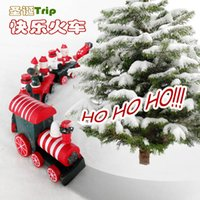 Wholesale Creative gifts wood gift Christmas four little train Delicate medium the locomotive Christmas gifts size
