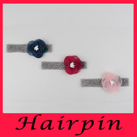 Wholesale Children s hair accessories burning flower core matches the lotus baby hair ribbon factory hot hair band headband Girl Jewelry