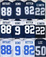 Wholesale 88 Dez Bryant jersey Jason Witten Tony Romo Sean Lee emmitt smith jerseys size small S XL top quality