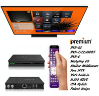 Wholesale ipremium Amlogic Quad Core Android box with channels combo satellite receiver Terrestrial and cable