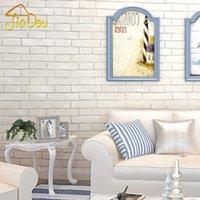 art clothing patterns - 3D Non woven Wallpaper Imitation Brick Pattern Living Room Bedroom Clothing Store White Brick Pattern Wall Decor Art Wall Paper