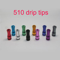 Wholesale Colorful new drip tips Electronic Cigarette mouthpiece metal aluminum drip tip rounded atomizer ego accessory