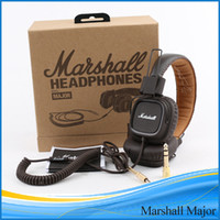 Wholesale Marshall Major headphones With Mic Deep Bass DJ Hi Fi Headphone HiFi Headset Professional DJ Monitor Headphone DHL MOQ
