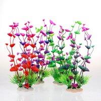 Wholesale Colors Artificial Water Grass Simulation Plant Flower Fish Tank Aquarium Decorations TF083