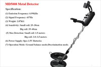 best coin metal detector - MD5008 Professional Metal Detector Undeground Gold Big Coin and Small Coin Digger Treasure Hunter BG44 best price