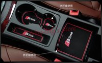 accessories for audi - High Quality Gate Slot Pad Rubber Car cup Mat Pad Non slip Mat Car Accessories For Audi A4 B8 A4L set Car Styling