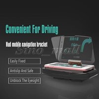 anti skid plate - Anti skidding And Safe Easily Fixed Hud Mobile Navigation Bracket For Iphone P Universal Smartphone Hard scratch plexiglass plate