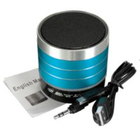 Wholesale 2016 Arrived Mini Portable LED Stereo Bass Wireless Bluetooth Speaker Support TF FM Radio AUX For iPhone For Samsung Tablet PC