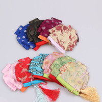 Wholesale Vintage Flower Coin Purse Coin Purse Wallet Tang Suit Handbag In the new Christmas candy bag High end Christmas gift bags Chinese Sil