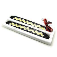 Cheap NEW Flexible Ultra Bright LED Daytime Running lights DC 12V 17cm Waterproof Auto Car DRL COB Driving Fog lamp
