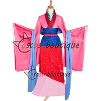 asian custom dress - custom made Mulan Princess Dress Cosplay Costume Asian ancient costume for party