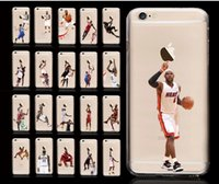 basketball cards cases - For iPhone s s Mobile Phone Case Buckle basketball PC Painted Protection Cases Cover2 py1