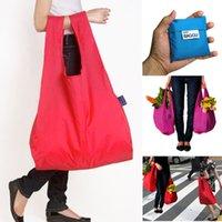 Wholesale foldable shopping bag fashion Eco friendly baggu Japan BAGGU Square Pocket Shopping Bag Portable Folding Pouch Lunch Bag