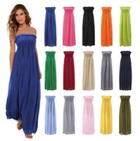 strapless maxi dress - Sexy Sleeveless Off Shoulder Maxi Dress Strapless bodycon Women long Dresses Elegant Summer Formal Party Dress